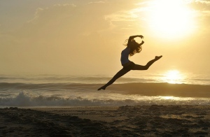 leaping-at-sunset