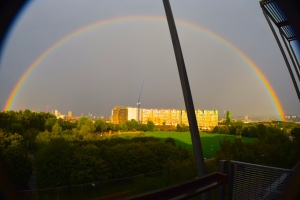 rainbow over greenwich